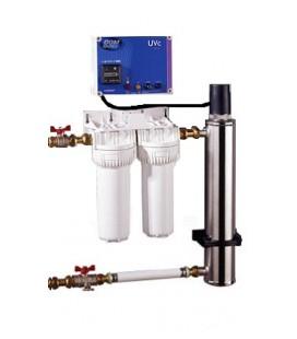 Kit de filtration et désinfection UVC de l'eau de pluie COMAP