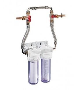 Combiné de filtration sédiments et polyphosphates avec By-Pass